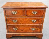 Quality Burr Walnut Small Chest of Drawers